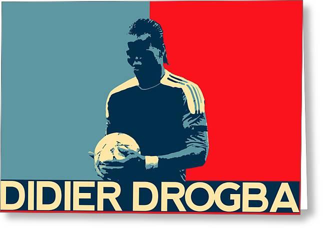 Didier Drogba Greeting Card by Semih Yurdabak