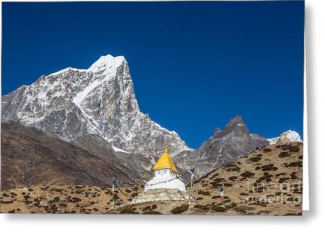 Dingboche Stupa In Nepal Greeting Card