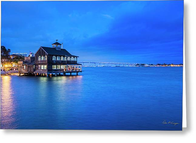 Greeting Card featuring the photograph Dinner On The Bay by Dan McGeorge