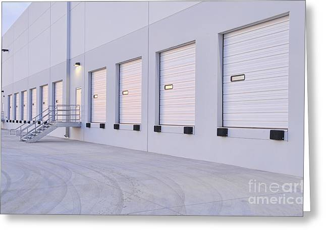 Distribution Center Bay Doors Greeting Card by Dave & Les Jacobs