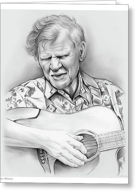 Doc Watson Greeting Card by Greg Joens