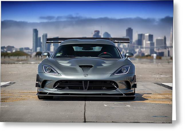 #dodge #acr #viper Greeting Card