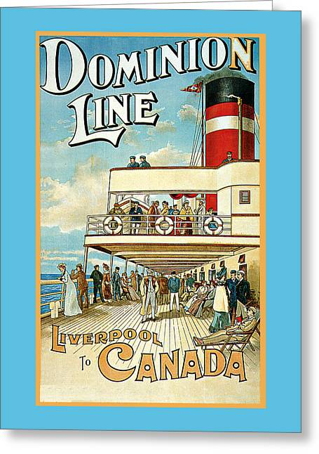 Dominion Line Greeting Card by William Cossens
