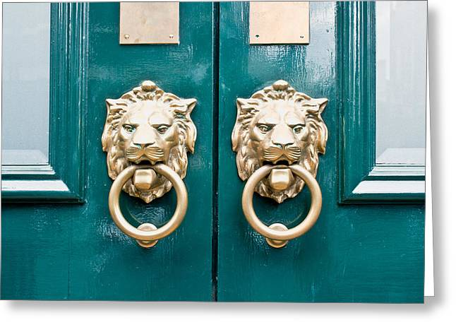 Door Handles Greeting Card
