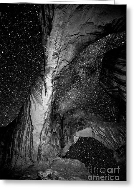 Double Arch And The Milky Way - Utah Greeting Card by Gary Whitton