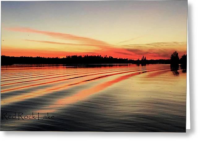 Doug Hobson, Red Rock Lake Greeting Card by Tom Janca