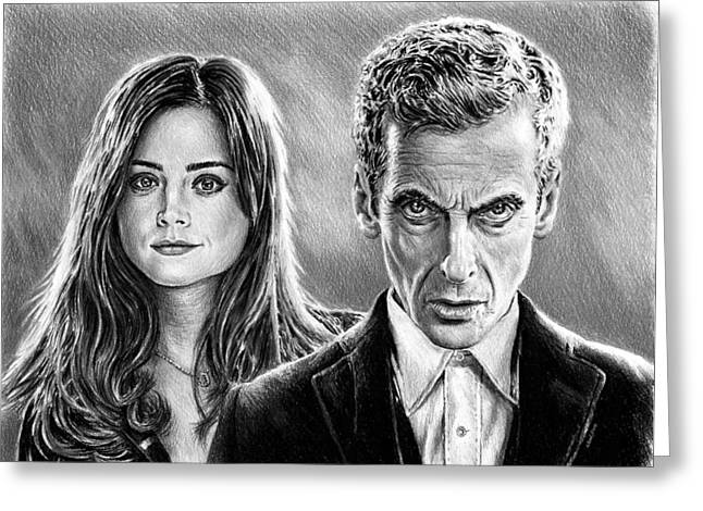 Dr Who And Clara Greeting Card