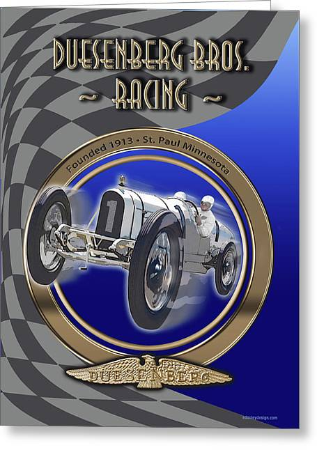 Duesenberg Bros. Racing Greeting Card