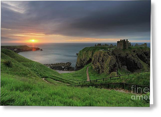 Dunnottar Castle At Sunrise Greeting Card