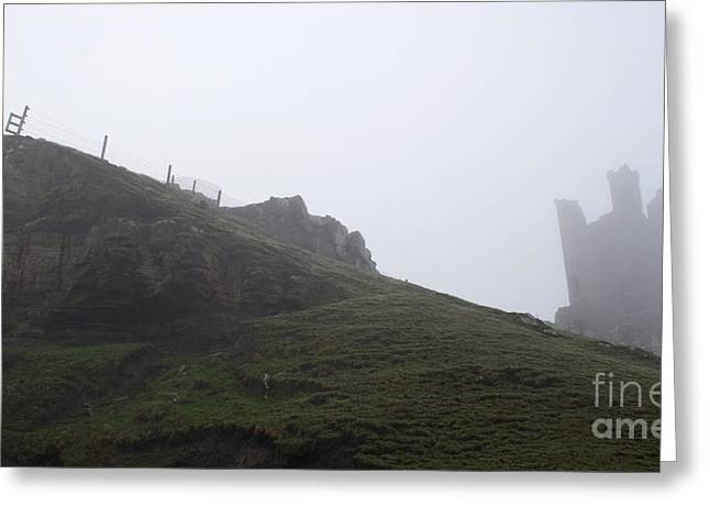 Dunstanburgh Castle.  Greeting Card by John Cox
