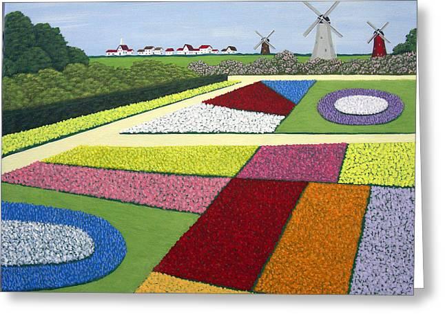 Dutch Gardens Greeting Card by Frederic Kohli
