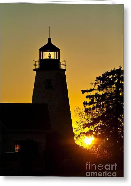 Dyce Head Lighthouse Greeting Card by John Greim