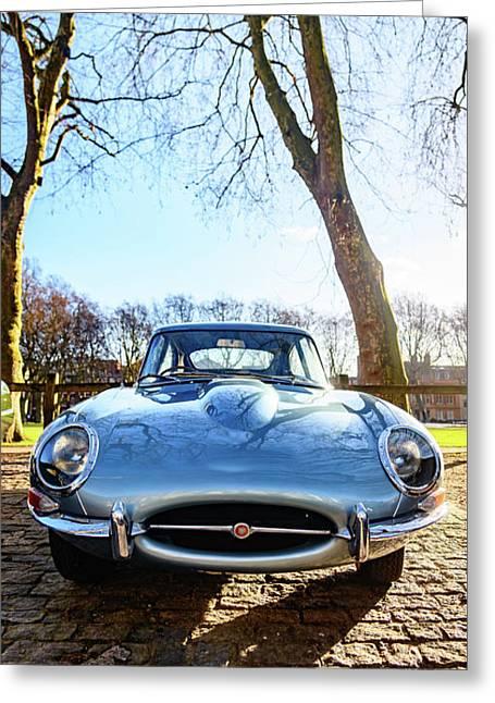 E Type Jaguar Greeting Card