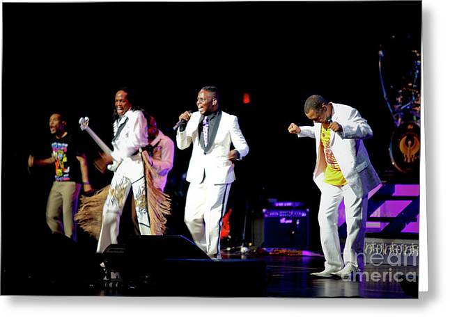 Earth Wind And Fire Greeting Card by April Sims