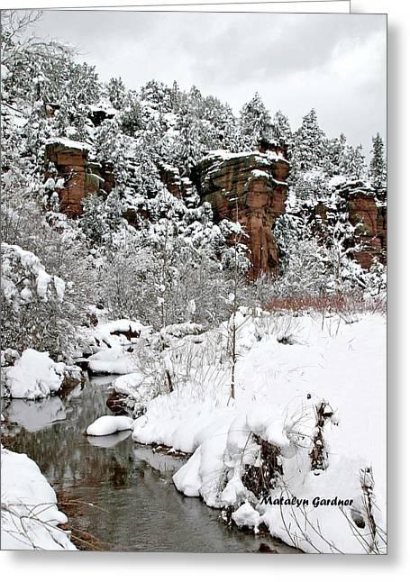 East Verde Winter Crossing Greeting Card