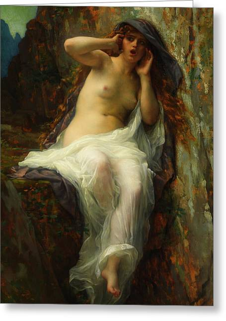 Greeting Card featuring the painting Echo by Alexandre Cabanel