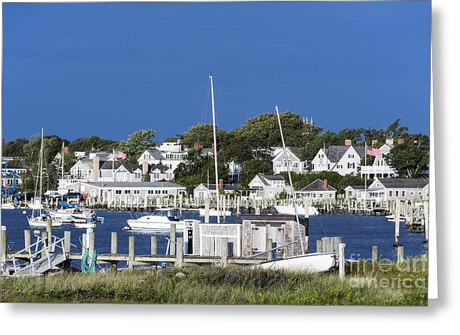 Edgartown Harbor Greeting Card by John Greim