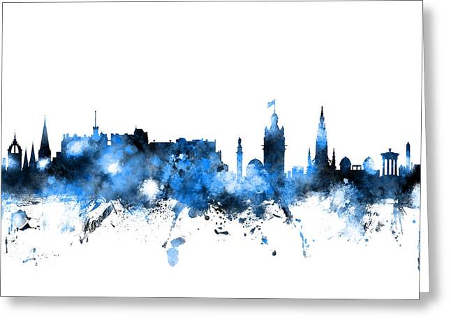Edinburgh Scotland Skyline Greeting Card by Michael Tompsett