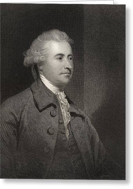 Edmund Burke 1729 To 1797 Anglo Irish Greeting Card by Vintage Design Pics