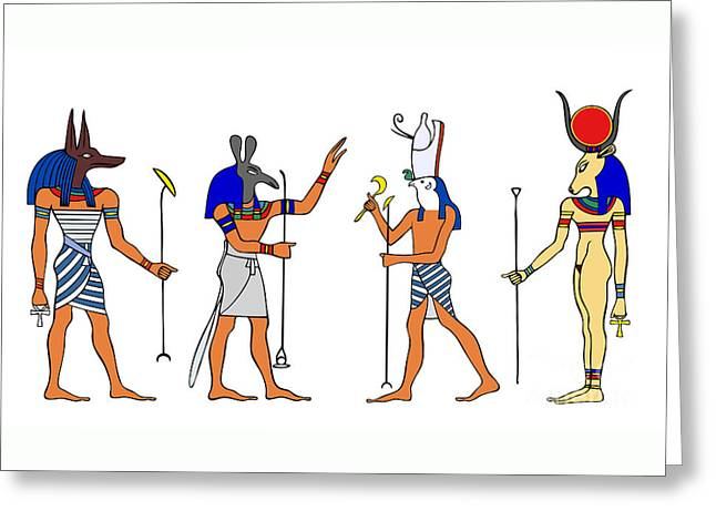 Egyptian Gods And Goddess Greeting Card