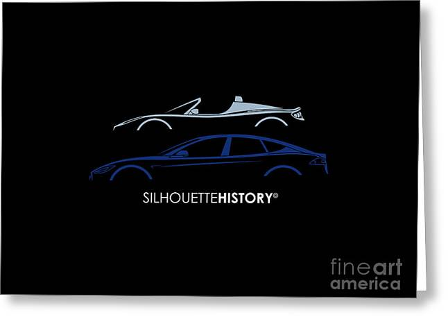 Electric Silhouettehistory Greeting Card by Gabor Vida