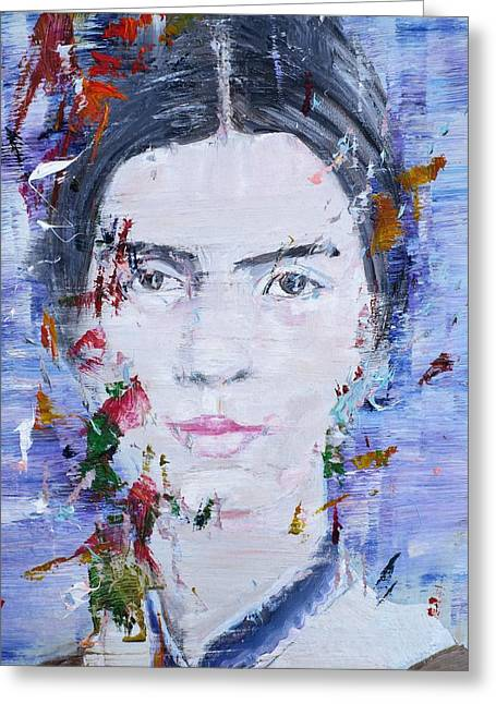 Emily Dickinson - Oil Portrait Greeting Card