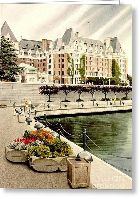 Empress Hotel Greeting Card
