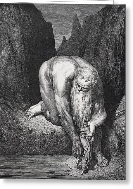 Engraving By Gustave Dore 1832-1883 Greeting Card
