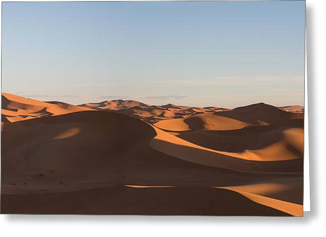 Erg Chebbi Dunes Just After Sunrise Greeting Card