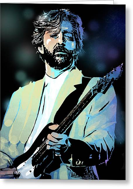 Eric Clapton Greeting Card by Paul Sachtleben