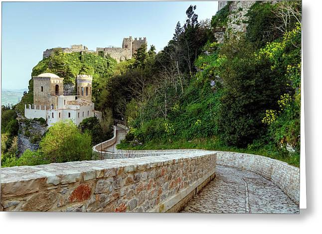 Erice - Sicily Greeting Card by Joana Kruse