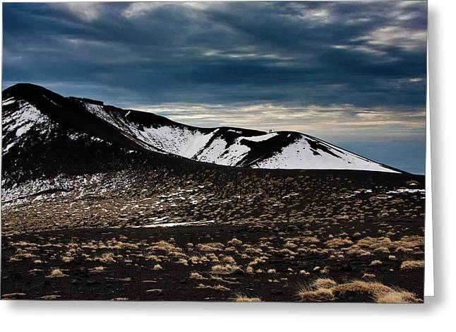 Etna, Red Mount Crater Greeting Card