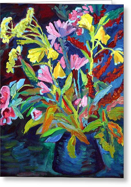 Evening Flowers Greeting Card by Katia Weyher