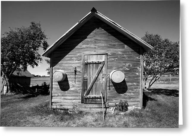 2 Eyed Shed Greeting Card by Stephen Mack