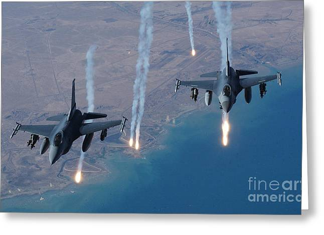 F-16 Fighting Falcon Greeting Card by Air Force