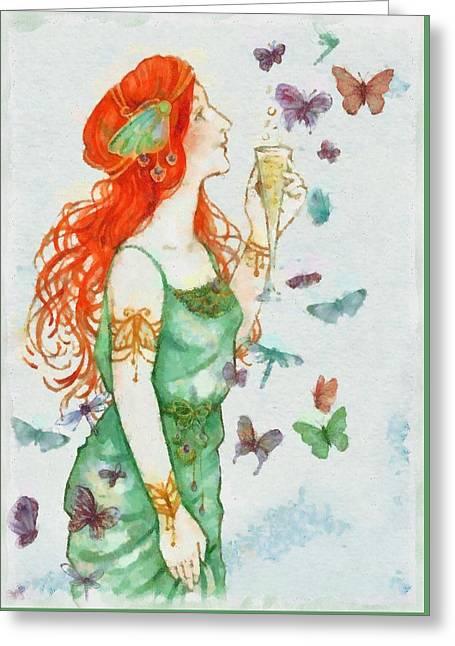 Fairy Greeting Card by Sarah Kirk