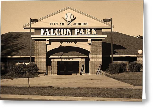 Falcon Park - Auburn Doubledays Greeting Card
