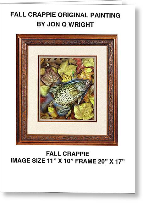Fall Crappie Greeting Card by Jon Q Wright