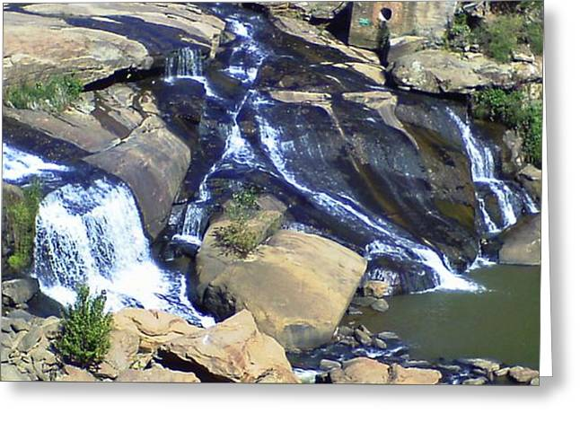 Falls Park Greeting Card by Gina Lee Manley