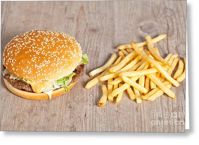 Fat Hamburger Sandwich Greeting Card by Sabino Parente