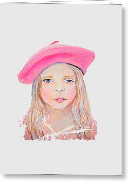 Fayanna Little French Angel Of Trust Greeting Card by The Art With A Heart By Charlotte Phillips