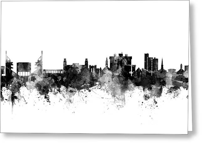Fayetteville Arkansas Skyline Greeting Card by Michael Tompsett