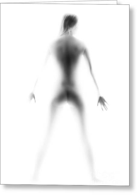 Female Silhouette Greeting Card by Aleksey Tugolukov