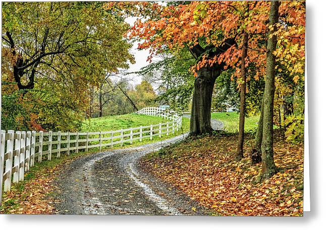 Greeting Card featuring the photograph Fence Line by David Waldrop