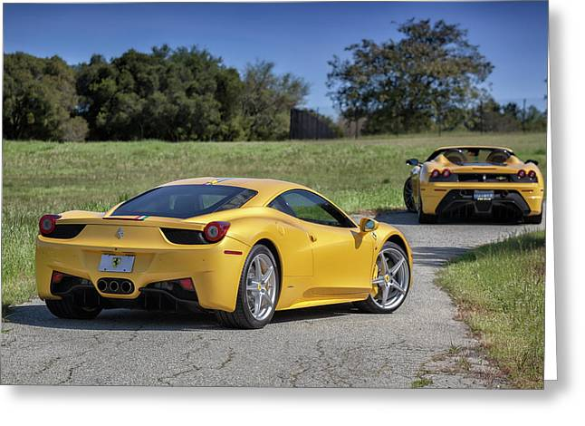 #ferrari #458italia #print Greeting Card