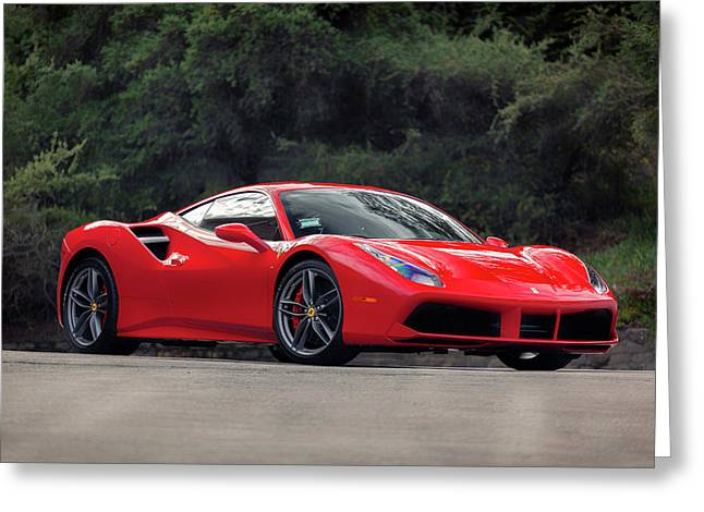 #ferrari #488gtb Greeting Card