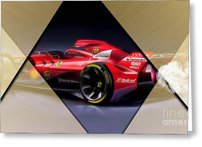 Ferrari F1 Collection Greeting Card by Marvin Blaine