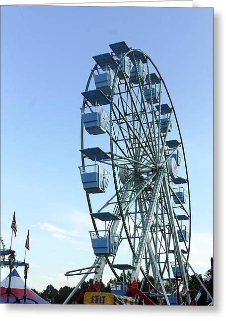 Ferris Wheel Greeting Card by Carolyn Ricks