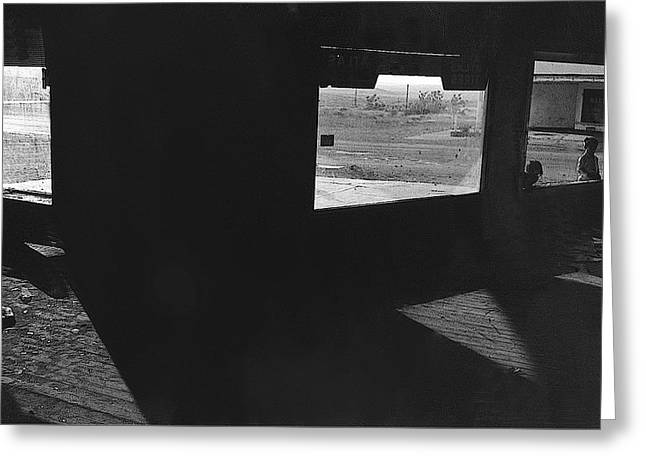 Film Noir Peter Lorre Fritz Lang M 1931 Ghost Town Magdalena New Mexico 1971-2008 Greeting Card by David Lee Guss