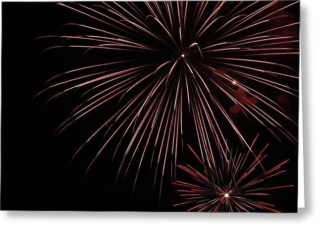Fireworks Greeting Card by Chuck Bailey